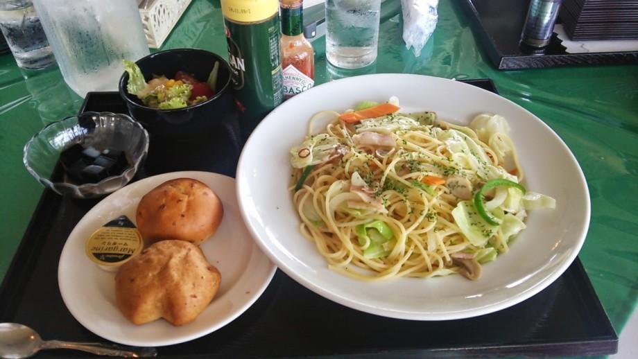 野菜たっぷりペペロンチーノ大盛り(赤城国際カントリークラブ)