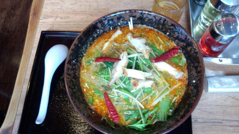 本格四川の味「緑彩担々麺」めん商人