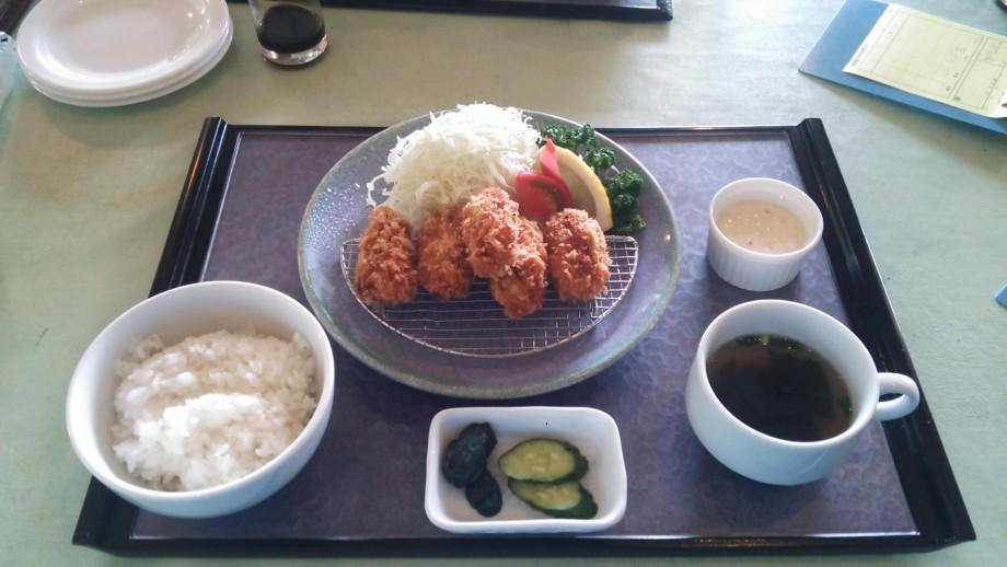 いよいよ牡蠣の季節です。カキフライ定食(上毛森林カントリークラブ)