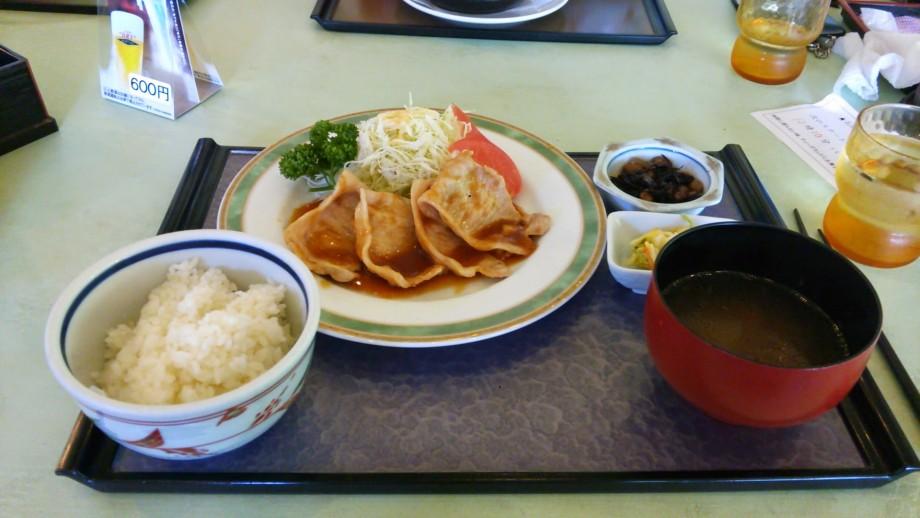 上州やまと豚の生姜焼定食(上毛森林カントリー倶楽部)