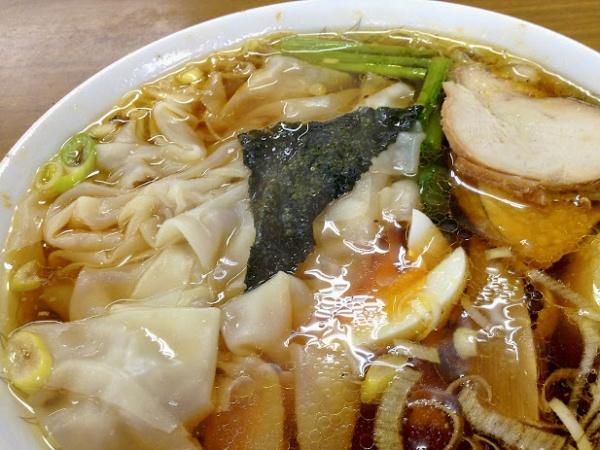 下館ラーメン 「盛昭軒」のワンタン麺