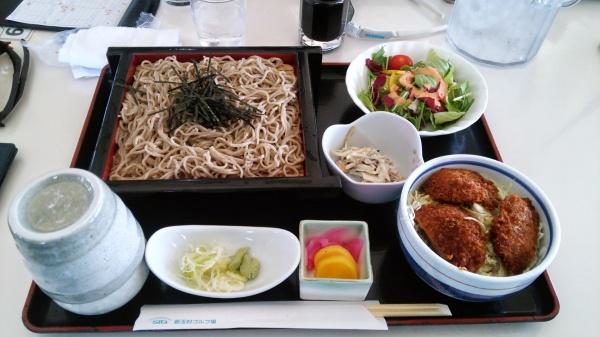 せいろそば+ミニソースかつ丼(新玉村ゴルフ場)
