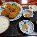 日進第一食堂の「ヒレカツ定食」と「カキフライ定食」(伊勢崎市)