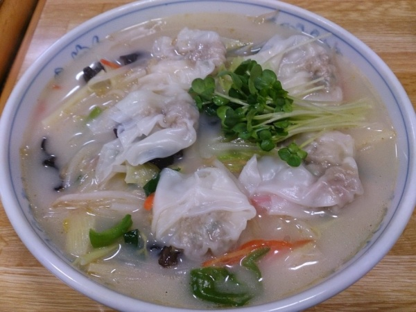 茨城県鹿嶋市・らーめんランド宮中店・塩野菜ワンタンメン