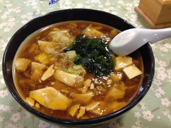 レストラン大手門の「豆腐ラーメン」