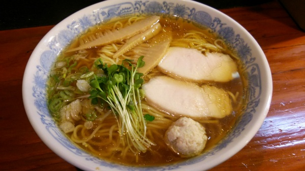鶏そば一番搾り正油・千思萬考(群馬県玉村町)