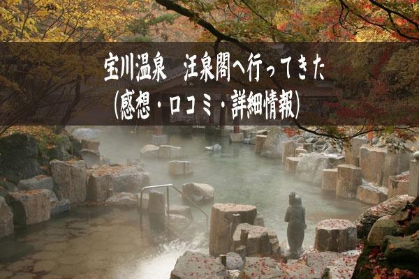 【宝川温泉】汪泉閣へ行ってきた(群馬)