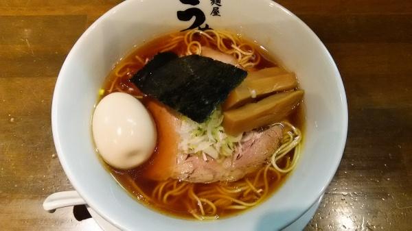 味玉醤油ラーメン麺 「うめはら」伊勢崎市