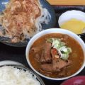 永井食堂のもつ煮定食590円普通盛り(群馬渋川市)