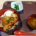 横川SA(上り)の鶏旨煮丼とBセット(山菜蕎麦と豚丼)