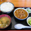 もつ煮で有名な、永井食堂の「もつ煮定食」(渋川市)