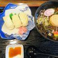 日光もみぢ庵の「ゆばそば・ゆば寿司セット」